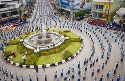 Wysokiego widoku Dziejowy obrazek ceremonia taniec bogini Thailand 2018 Zdjęcie Royalty Free