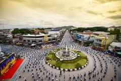 Wysokiego widoku Dziejowy obrazek ceremonia taniec bogini Thailand 2018 Zdjęcia Stock