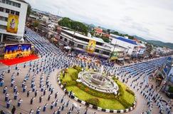 Wysokiego widoku Dziejowy obrazek ceremonia taniec bogini Thailand 2018 Obrazy Stock