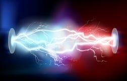 Wysokiego woltażu elektryczny rozładowanie również zwrócić corel ilustracji wektora ilustracja wektor