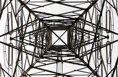 Wysokiego woltażu słupa elektryczna struktura Obrazy Royalty Free