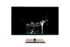 Wysokiej definici nowożytny komputerowy monitor Zdjęcie Royalty Free