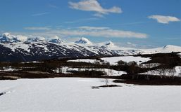 Wysokiej góry wierzchołka grzech Norwegia obraz stock