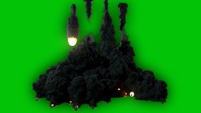 Wysokiej jakości filmowy wideo mknąca gwiazda lub asteroidy lata od nieba, zaświeca w górę ciemności i zbiory