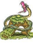 Wysokiej jakości ilustracja węża drapieżnika maskotka, pokrywa, tło, tapeta ilustracja wektor