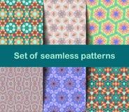 Wysokiej jakości kolorowa tapeta w Islamskim lub Arabskim stylu Bezszwowi azjata wzory dla tło i zaproszeń Girih język arabski royalty ilustracja