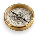 Wysokiej Jakości Mosiężny kompas z ścinek ścieżką Obrazy Stock