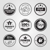 Wysokiej jakości rocznika wosk pieczętuje etykietki, odznaki i royalty ilustracja
