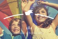 Wysokiej Jakości gatunku marketingu Biznesowa Oznakuje kopia Astronautyczny Concep Zdjęcia Stock