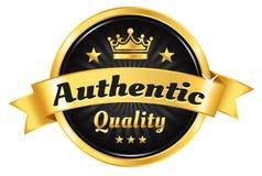 Wysokiej Jakości Złota odznaka Zdjęcie Royalty Free