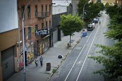 Wysokiej linii ulicy widok fotografia stock