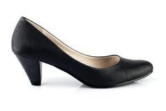 wysokość czarny piętowy but Obrazy Royalty Free