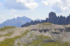 Wysokość i Dolomiti góry Obraz Stock