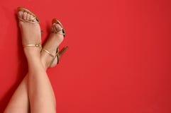 wysokość piętowi buty. Obrazy Stock