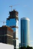 wysokość tła budowy budynków urzędu wysokiego nieba drapacze chmur Obraz Royalty Free