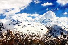 wysokość wysokogórski krajobraz Obrazy Royalty Free
