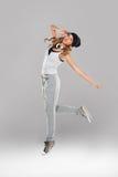 Wysokości młodej kobiety taniec Fotografia Stock