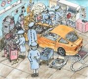Wysokości operaci szczegółowy pokój dla samochodu Zdjęcie Stock
