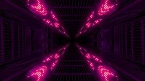 Wysoko jarzyć się odbijającej abstact galaxy przestrzeni tła 3d tunelowego rendering ilustracja wektor