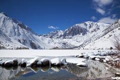 wysokogórska jeziorna zima zdjęcie stock