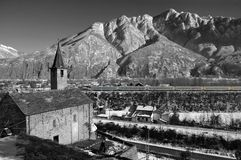 wysokogórska kościelna zima Obrazy Royalty Free