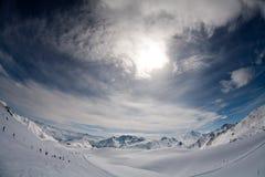 wysokogórska panorama Zdjęcie Royalty Free
