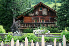 wysokogórski dom Fotografia Royalty Free