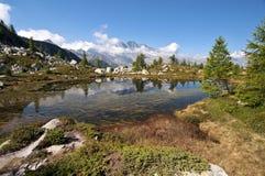 wysokogórski jezioro Fotografia Royalty Free