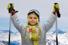 wysokogórski narciarstwo Obrazy Stock