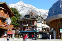 Wysokogórski widok w Grindelwald Fotografia Royalty Free