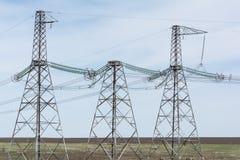 wysokonapięciowe linie energetyczne Fotografia Stock