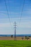 Wysokonapięciowy powerline Fotografia Royalty Free