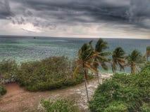 Wysp burze Obrazy Royalty Free