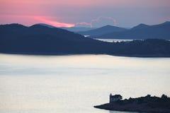 wysp kornati zmierzch Obraz Royalty Free