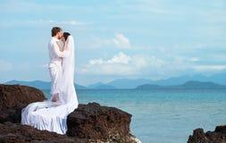 Wyspa ślub Obrazy Royalty Free
