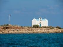 Wyspa Afentis Christos blisko wyspy Crete, Grecja zdjęcia royalty free