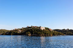 Wyspa blisko Parga, Grecja, Europa Obraz Stock