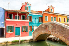 Wyspa Burano Włochy Obraz Royalty Free