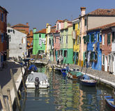 Wyspa Burano Włochy - Wenecja - Zdjęcia Stock