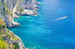 Wyspa Capri, morze śródziemnomorskie, Włochy obraz royalty free