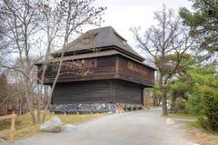 Wyspa Djurgarden, Sztokholm Skansenowski muzeum wiejski dom Fotografia Stock