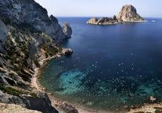 Wyspa Es Vedra Zdjęcia Stock