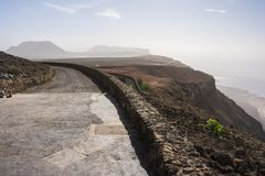 Wyspa graciosa od mirador del Rio obrazy stock