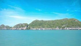 Wyspa i morze Zdjęcie Stock
