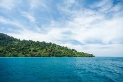 Wyspa Tajlandia i morze Fotografia Royalty Free