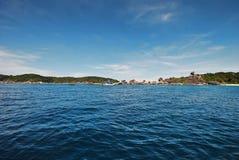 Wyspa i plaża Obraz Stock