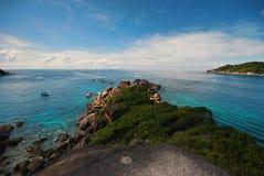Wyspa i plaża Fotografia Royalty Free