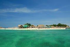 Wyspa i plaża Obrazy Royalty Free