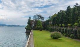 Wyspa isola madre na lago maggiore Zdjęcie Royalty Free