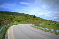 wyspa kanaryjska drogowy Spain Tenerife zwrot Zdjęcie Stock